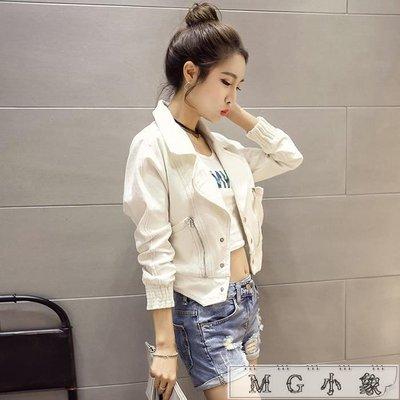 牛仔外套  韓版女裝白色牛仔短外套