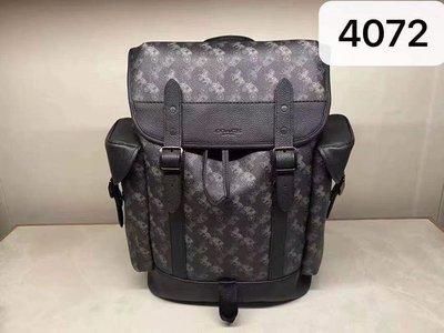 【紐約精品舖】COACH 1059 4072 Hitch男士馬車印花雙肩包 後背包 大容量旅行包 超低直購 美國正品代購