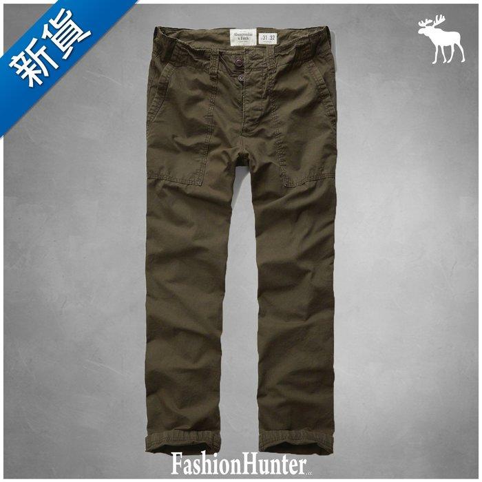 新貨【FH.cc】休閒褲 A&F CLASSIC UTILITY CHINOS 軍綠 後腰刺繡布標Logo HCO