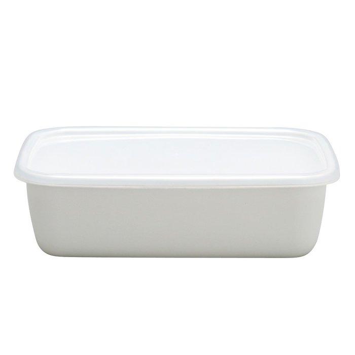【東京速購】日本製 野田琺瑯 長方形 保鮮盒 琺瑯盒 深型M (附保鮮蓋)