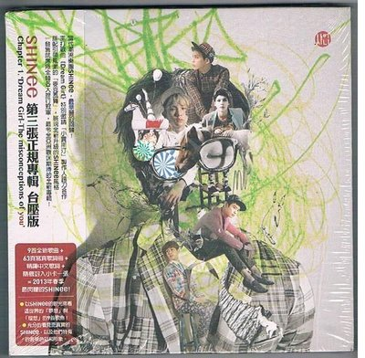 [鑫隆音樂]韓語CD-SHINee:Chapter 1. `Dream Girl- 第三張正規專輯 (台壓版)