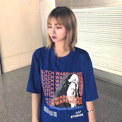 2018新款韓國超火字母印花原宿寬松百搭半袖圓領 短袖T恤女潮