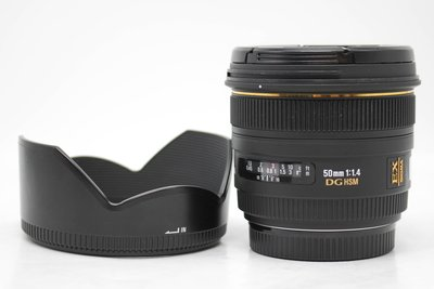 【高雄青蘋果3C】SIGMA 50mm f1.4 DG EX HSM For Canon 二手鏡頭#53271