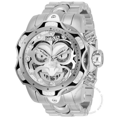 【換日線】INVICTA 30295 DC Comics Joker 52mm 小丑 白鋼計時手錶