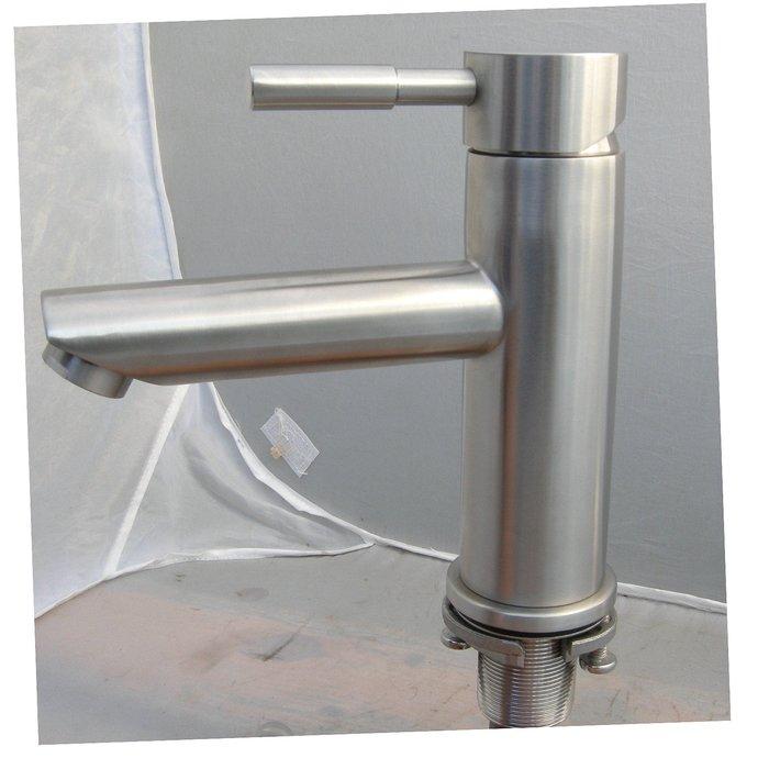 3308不鏽鋼面盆單孔水龍頭