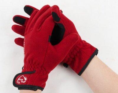 戶外觸屏抓絨手套 男女款冬季騎行保暖加厚防風運動滑雪運動手套  登山手套全指手套