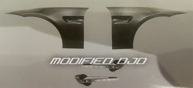 DJD Y0476 BMW E90 05-08年 M3樣式 葉子板含LED側燈