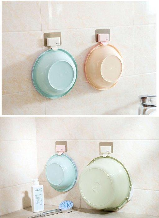 【生活小魷魚】✨現貨✨ 廚房浴室無痕貼臉盆毛巾收納掛架 (不挑色)