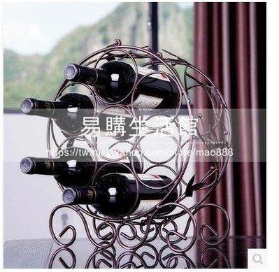 鐵藝紅酒架7瓶葡萄酒櫃(7瓶鐵藝紅酒架...