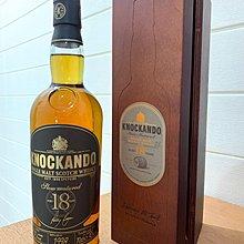 順豐站免郵🌹 KNOCKANDO 18 Single Malt Scotch Whisky 700ml Wood box Limited Edition