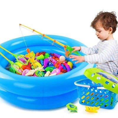 溜溜Fishing toy pool set suit kids play water boy girl baby larg