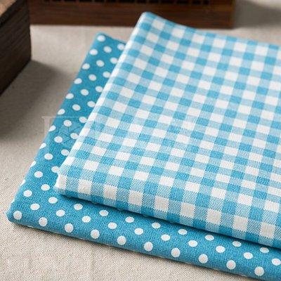 戀物星球 棉麻布料格子布藝手工diy窗簾桌布抱枕沙發面料麻布背景掛布布料