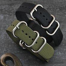 20mm超粗硬漢風格,防磁消光不鏽鋼錶扣特戰兵軍錶風格 nato zulu TUNA  SBBN 尼龍