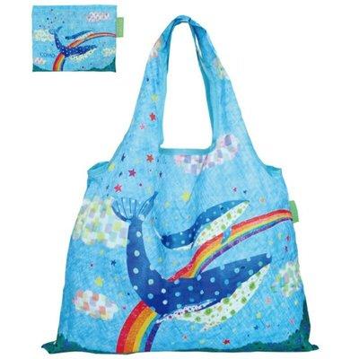 鯨魚 Whale Prairie Dog Designers Japan 日本設計師 可摺式 2-Way 環保袋 購物袋 (包平郵或本地郵局自取)