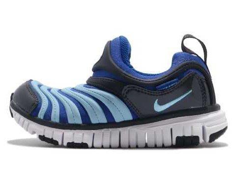 NIKE DYNAMO FREE 兒童用運動鞋 藍 輕量 赤足 毛毛蟲鞋 343738 428