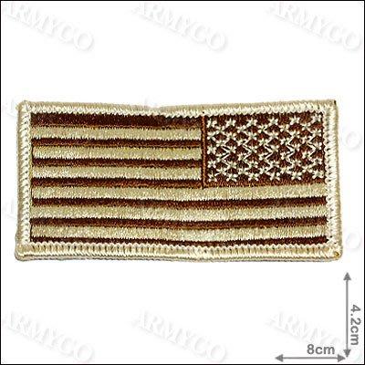 【ARMYGO】美國國旗(沙色-窄版)