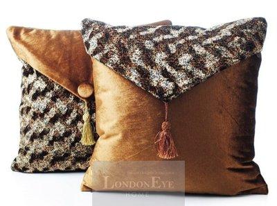【 LondonEYE 】NeoClassic新古典X奢華織品系列X抱枕套 新東方動物紋X皮革絲穗 豪宅CN28(贈芯)