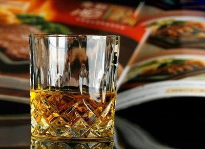 【現貨】無鉛玻璃 鑽石紋 雕刻 威士忌...