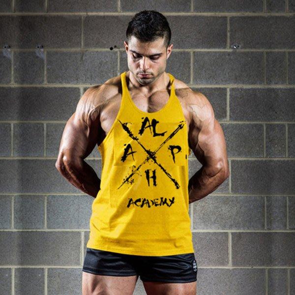 HITOMEN 歐美健身肌肉背心 性感細肩 健身 慢跑 運動 健美 重訓 大挖背 工字背心 籃球背心【064】