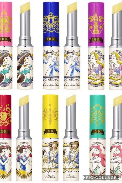 min~日本DHC Disney 聯合迪士尼公主系列純欖護唇膏 日本限定 全新品 現貨 3入一組