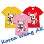 Korea Wang AK ~(預購)台灣原創獨家設計 美國純棉 限定版 法國鬥牛犬兒童青少年版T 六款【P051】