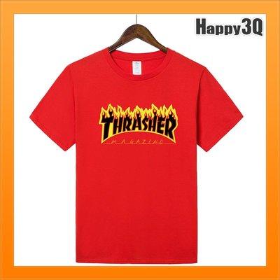 火焰T-SHIRT燃燒字樣上衣短袖T大尺碼3XL情侶T百搭-多色XS-3XL【AAA4326】