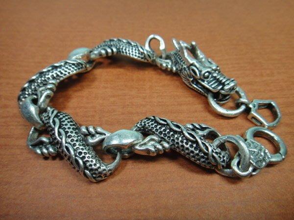 【競標網】漂亮時尚西藏藏銀盤龍造型手鍊(回饋價便宜賣)限量10組(賣完恢復原價300元)