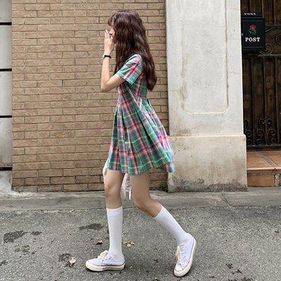 現貨免運法式裙子喪系裙子仙女超仙森系學生厭世風連衣裙