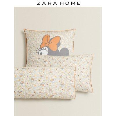 熱銷 枕套Zara Home 米妮老鼠印花密織棉枕頭套抱枕套 41613091999滿額 可開立發票