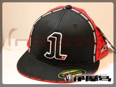 伊摩多※義大利 Alpinestars A星 棒球帽 布質 嬉哈帽 原廠 MotoGP Lorenzo \1號黑紅 出清