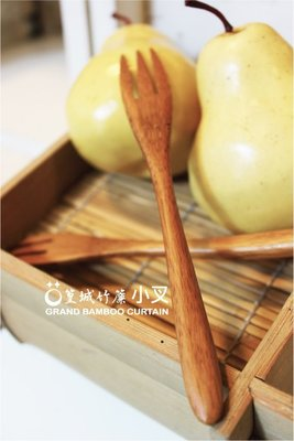 【篁城餐具】簡約自然禪風系列〔圓頭小叉〕叉子、水果叉、適用於開店餐廳、自用