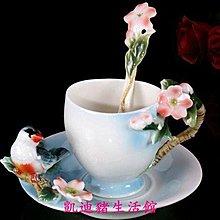 【凱迪豬生活館】喜鵲報喜 立體陶瓷杯盤匙組 咖啡 花茶 下午茶 貴婦享受KTZ-201057