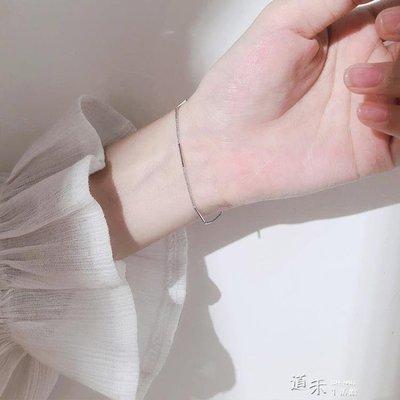 s925銀冷淡風手鍊女韓國簡約氣質學生小清新森系閨蜜個性 良品世佳