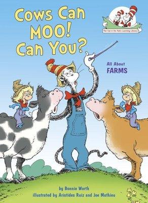 *小貝比的家*COWS CAN MOO! CAN YOU?:ALL ABOUT FARMS/精裝書/3~6歲/新年