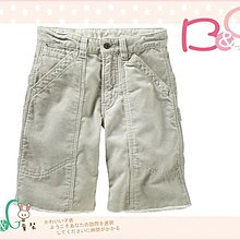 【B& G童裝】正品美國進口GAP灰色燈芯絨短褲16號14UP