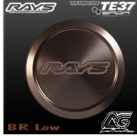 RAYS TE37 SAGA CENTER CAP 中心蓋 LOW/ HIGHT  BR MM  輪圈蓋
