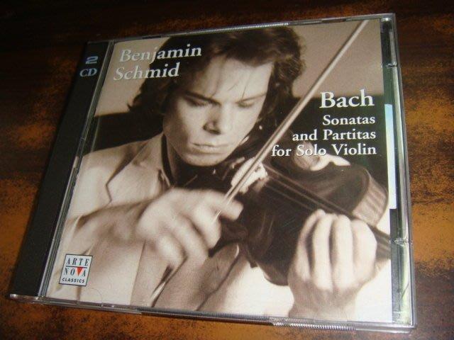 好音悅 半銀圈 Benjamin Schmid Bach 巴赫 巴哈 無伴奏小提琴 奏鳴曲 組曲 2CD 德版