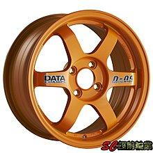 【超前輪業】全新鋁圈 編號(05) DATA M6 16吋 4孔100 (橘色) 特價 2800 K8 K6 FIT