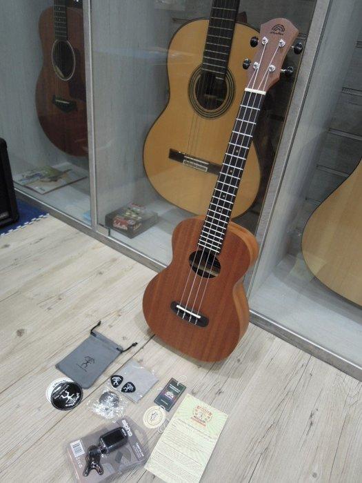 台南嘉軒樂器吉他  aNueNue BASIC B3 26吋烏克麗麗 初光桃花心木系列