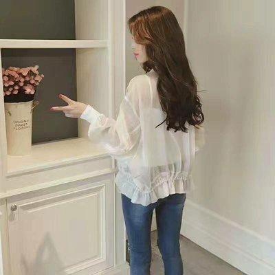韓版流行超時尚防曬外套~高透氣抗UV,唯美上市!~JIFU 鉅釜(W147)(白色)