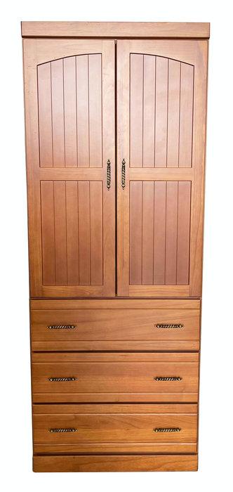 台中二手家具賣場 宏品中古家具館 LC1205DA*全新半樟木3抽實木衣櫃*臥室家具 櫥櫃 床組 床墊 化妝鏡桌椅 床墊