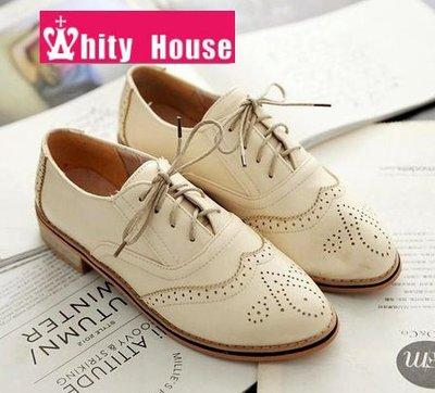 =WHITY=韓國FUPA品牌 韓國製 可愛質感女孩  復古軟皮低跟牛津鞋S4DS686