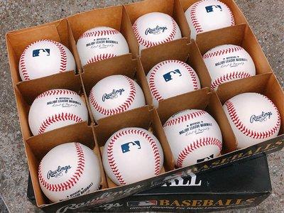 美國MLB職棒大聯盟實戰用比賽球一打12顆 ~ 美國eBay購回如圖 ~ 免運