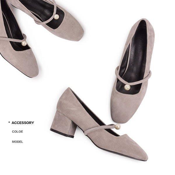 5Cgo【鴿樓】會員有優惠  529070225263 新款女士涼鞋女夏季粗跟真皮魚嘴女鞋中跟拼色細帶羅馬高跟鞋