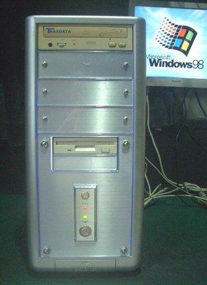 【窮人電腦】便宜的Win98遊戲、工業用機!跑Win98華碩主機出清!桃園以北可免費外送!