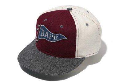 【咻SHOES運動】A Bathing Ape x Ebbets Field Flannels 羊毛 棒球帽 聯名美國製