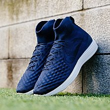 D-BOX Nike Lunar Magista II Flyknit 深藍色 白 復古編織 跑步鞋 男運動鞋