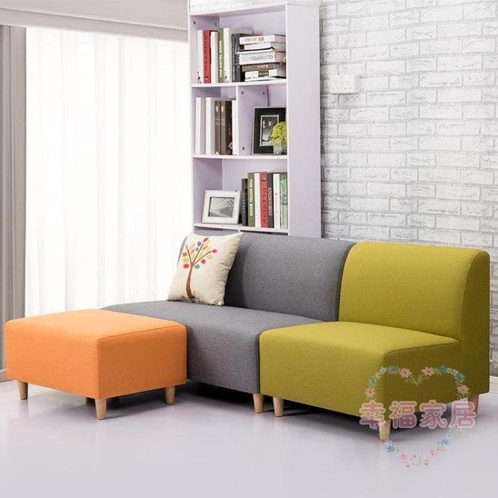兩人沙發接待休閑美容院沙發單雙人位三人臥室現代簡約房間小沙發xw