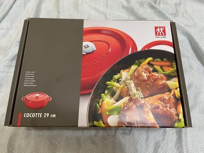 全聯-德國 雙人牌 Zwilling 橢圓鑄鐵鍋 (櫻桃紅) 29cm 琺瑯鑄鐵橢圓鍋