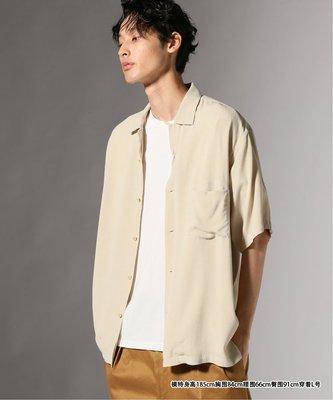 【傑森精品】日本 journal standard 美式復古 絲柔垂順飄逸 OVERSIZE 寬鬆 古巴領 短袖襯衫